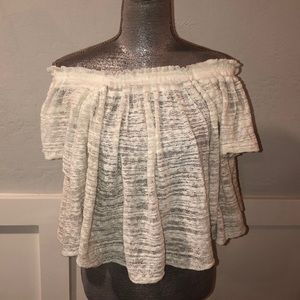 Free People Cream Top in size small